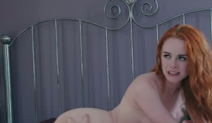 Corporalist redhead Ella Hughes loves being watched during sex