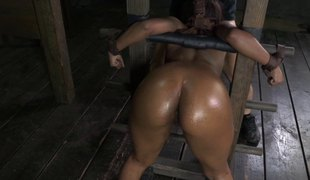 Swarthy in servitude gets roughly banged doggystyle in BDSM torment