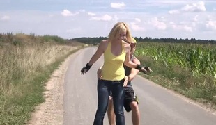 Outdoor shoot of hot booty dame anal getting throbbed doggystyle
