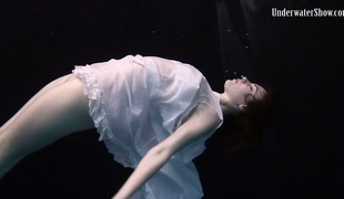 Andrejka demonstrating sexy body in artistic underwater photoshoot