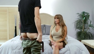 Concupiscent blonde mature Darla Crane properly drilled by a nerd