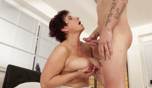 Compilation of mature whores receiving cumshots in their big boobs