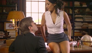 Jaw dropping babe Eva Lovia gets fucked well in the library
