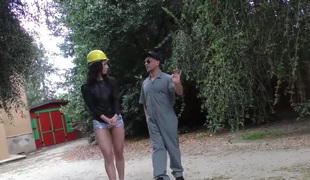 Teanna Trump gets group-fucked on a construction site