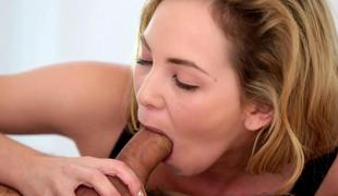 Angel Smalls gives a wake up blowjob