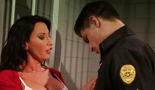 Horny cop slams deep inside the bawdy cleft of Lezley Zen