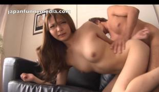 Japanese girls sex hard sucking dick hard eat cum