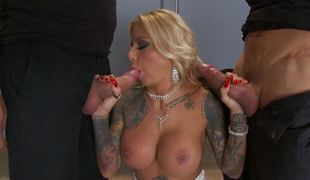 DP and three-some with tattooed babe Britney Shannon