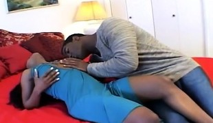 Stacked chocolate hooker acquires her pussy licked and drilled by her pimp