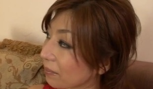 Hot 3some porn show along breasty Japan mom, Naho Had