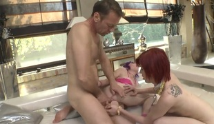 Rocco Siffredi plays hide the salamy with Proxy Paige in steamy anal action
