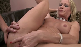 Nasty mature Simone Sonay ass fucked by a hot brutal guy