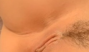 I love petting and teasing my own cunt with dildo a bit