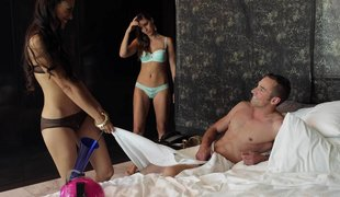 Endearing wives threesome encounters on vacation