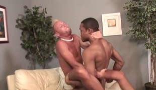 Tanned surfer fellow fucked by a darksome dick