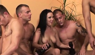 Cury young chick acquires fucked in the arse while her friends watch