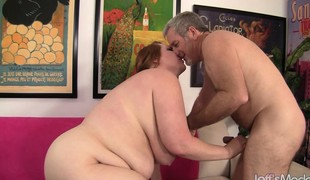 Curvy redhead cougar with huge tits acquires nailed hard in every position