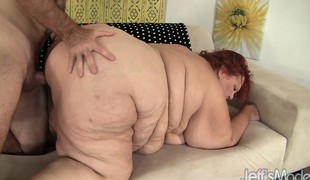 Fat redhead mature has a horny dude giving her the fuck that babe deserves