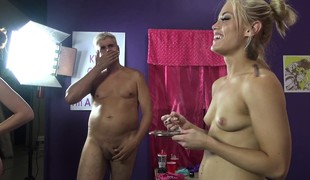 Ash Hollywood share a big dildo and a hard prick with Farrah Flower