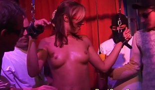 Concupiscent breasty german babes 1st bukkake groupsex ganbang fuck party fuckfest