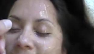 brunette blowjob sædsprut facial rett