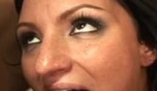 brunette anal blonde sædsprut facial