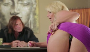 Blonde seductress with large whoppers Phoenix Marie nailed well