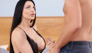 Divine busty MILF Aletta Ocean gets her juciy love tunnel poked well