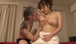 Azusa Nagasawa amazing Asian milf gets gaping anus
