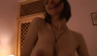 Horny French newlyweds make their first hot sex vid
