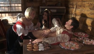 Village three-some fuckfest with Ash Hollywood and India Summer