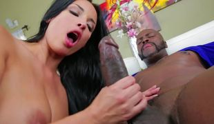 Anissa Kate takes BBC in her taut white rectal hole