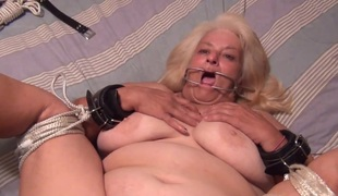 POV Anal 60 Year Old Granny Wanda Acquires Fastened & A-Hole Screwed