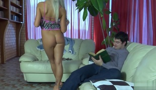 Anal-Pantyhose Clip: Monica and Adam
