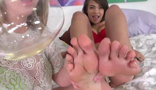 Cassidy Banks and Brooke Wylde  Foot Fetish Daily