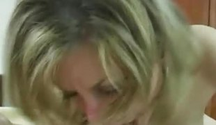 Alex Devine stuffs her mouth with cock