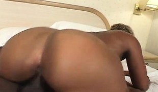 Caramel hooker acquires picked up outside and fucked hard by a black guy