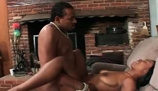 Ravishing black beauty Jada Kiss gets her peach fucked hard by Julian