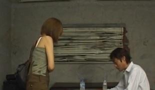 Jun Kusanagi, busty beauty, amazes in solo