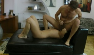 Mexi Rose gives oral-stimulation job to hot man