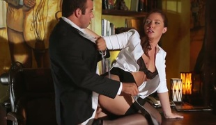 Gorgeous slut in stockings Maddy OReilly