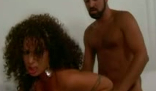 Voluptuous swarthy hoochie screwed bad in a doggy position