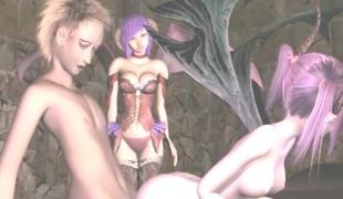 3D anime batgirls doggystyle fucking hard