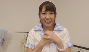 Japanese playgirl with the sweetest eyes loves POV porn
