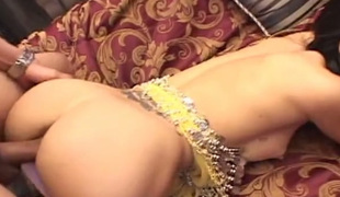 Skinny exotic looking hooker fucked bad in a doggy position