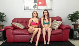 Hot girlfriends play with their vibrator during a hot livecam show