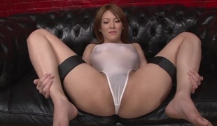 Japanese beauty Rei gets dick in her good pussy