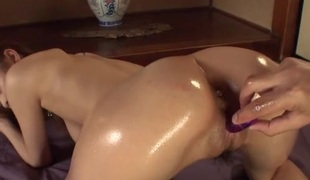Big lubed up Japanese tits look amazing