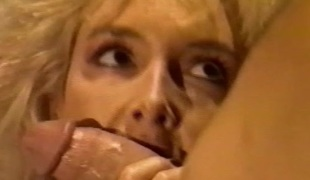 Big boobed blond sucks and fucks for cum