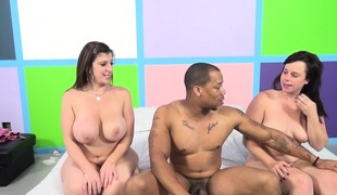Virgo Peridot and Sara Jay watch who is most excellent at giving a blowjob